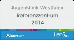 Augenklinik Westfalen - Alcon Referenzzentrum LensX 2014